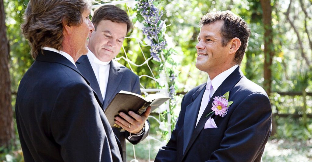 Find a gay wedding officiant near you