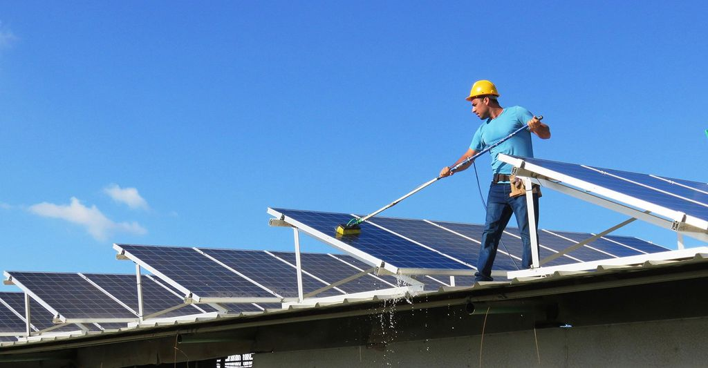 A solar panel cleaner in Longmont, CO