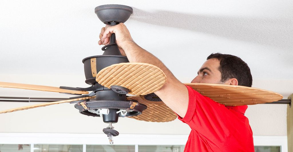 A ceiling fan installer in Roswell, GA