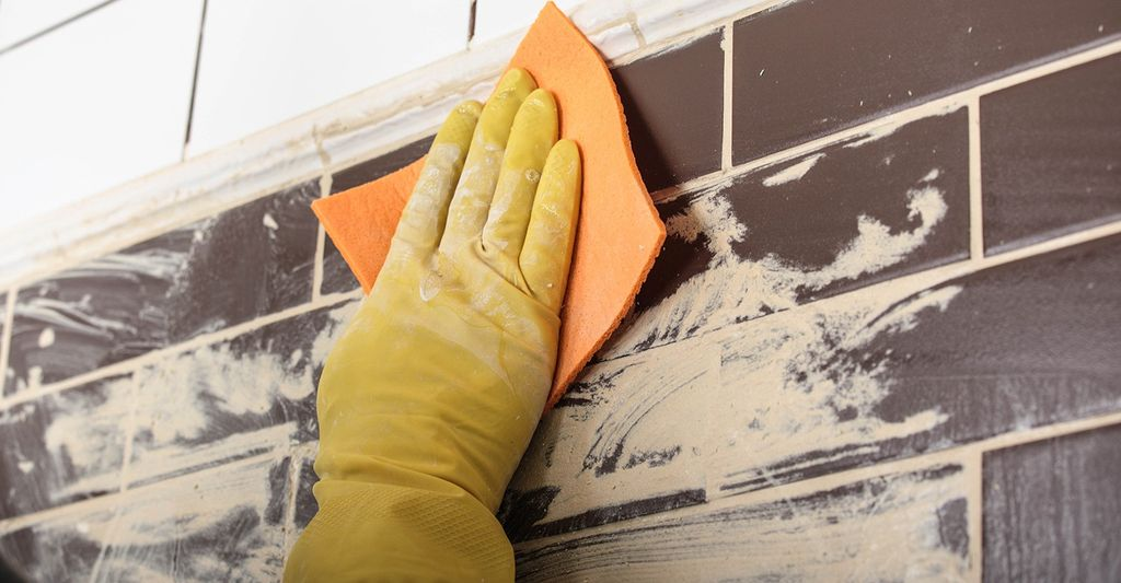 A tile and grout cleaning professional in Lawrence, KS