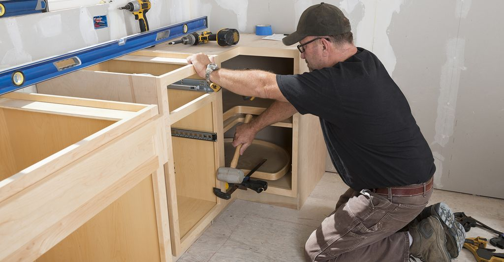 A cabinet installer in Loveland, CO