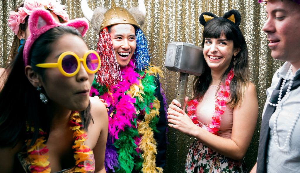 A photo booth rental professional in Ann Arbor, MI