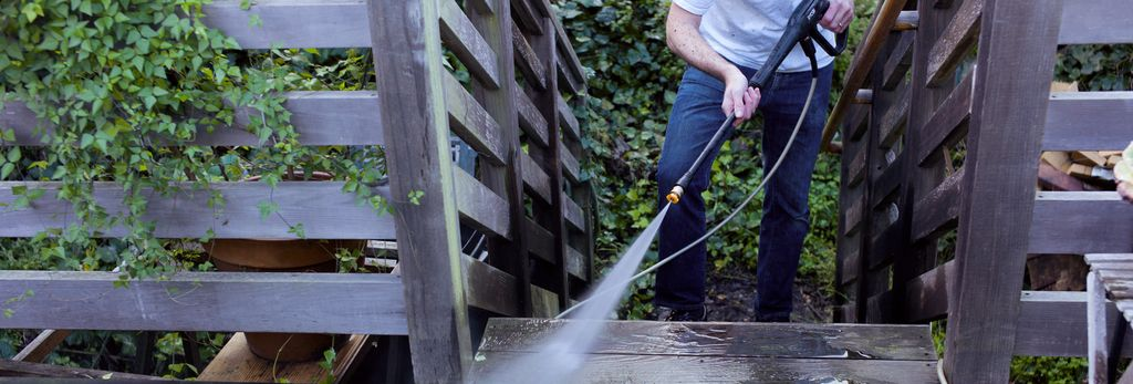 A power washer in Millbrae, CA