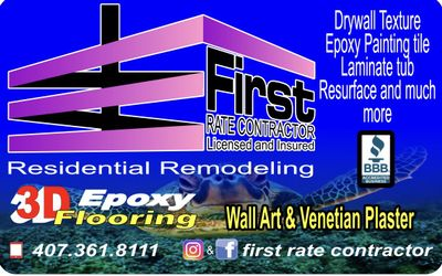 Avatar for First Rate Contractor Kissimmee, FL Thumbtack