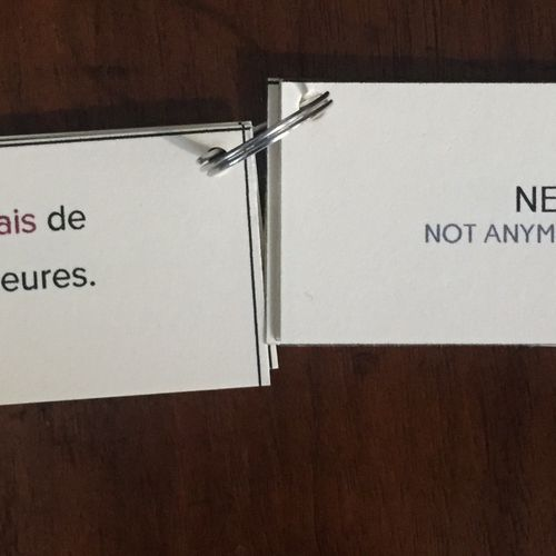 Set of flashcards created for my students to help memorize negative structures.