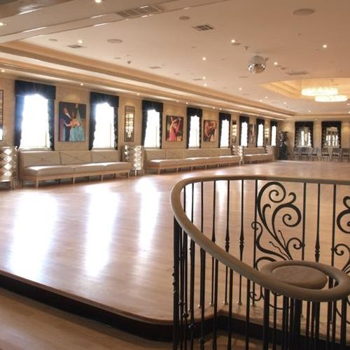 Our amazing facility... main ballroom.  Plus we have a lounge, bar, second ballroom and more...