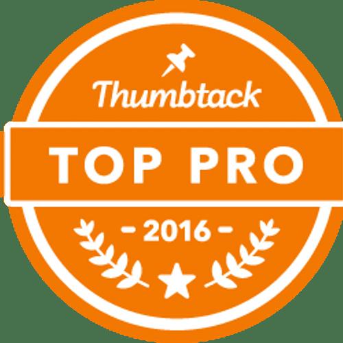 """Thumbtack """"Top Pro"""" Award 2016"""