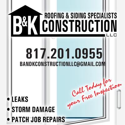 Avatar for B&K Roofing & Construction, LLC . Boyd, TX Thumbtack