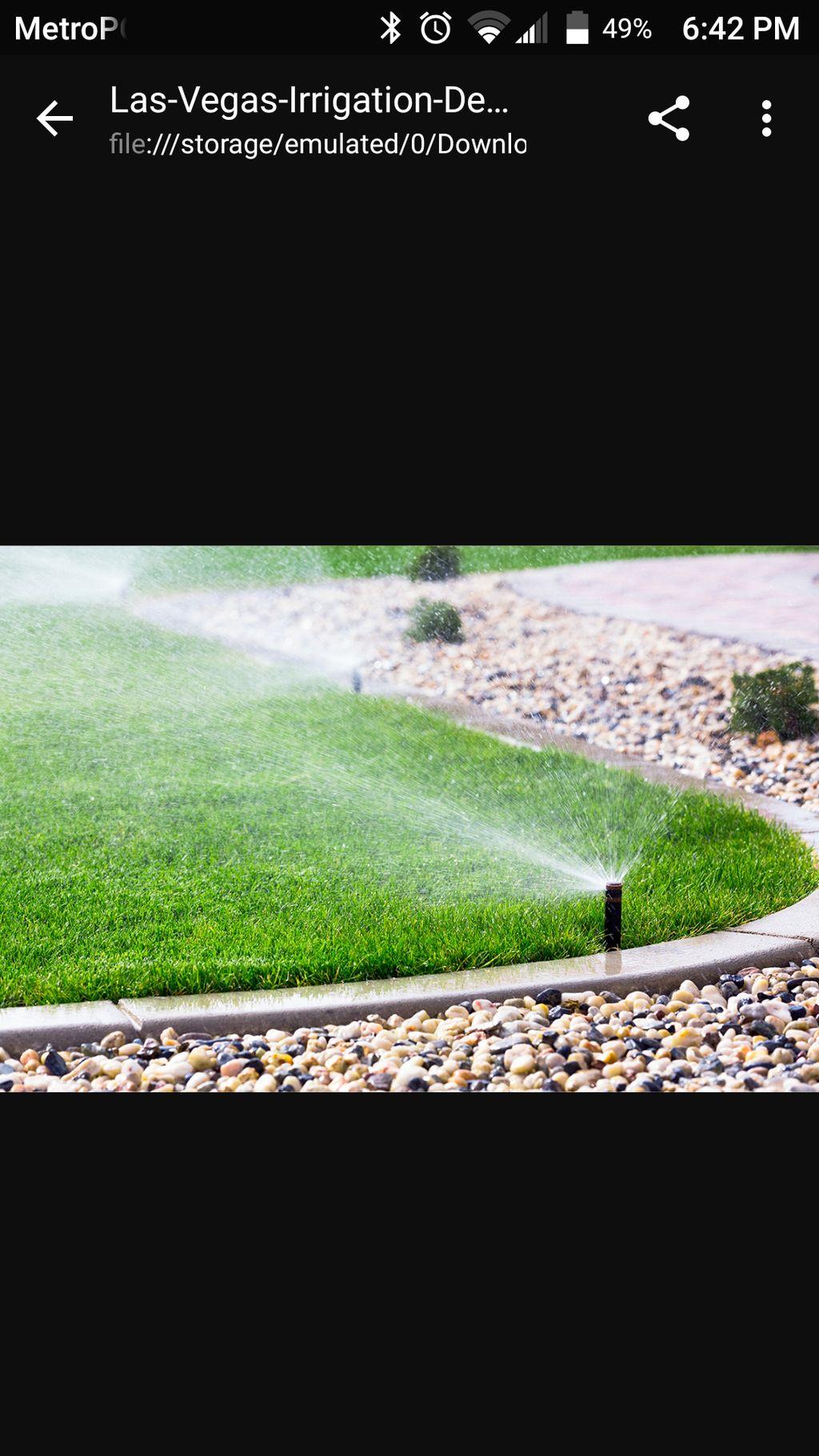 irrigation landscape