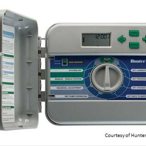 Hunter Sprinkler Repair installs and adjusts all major brands of controller/timers.