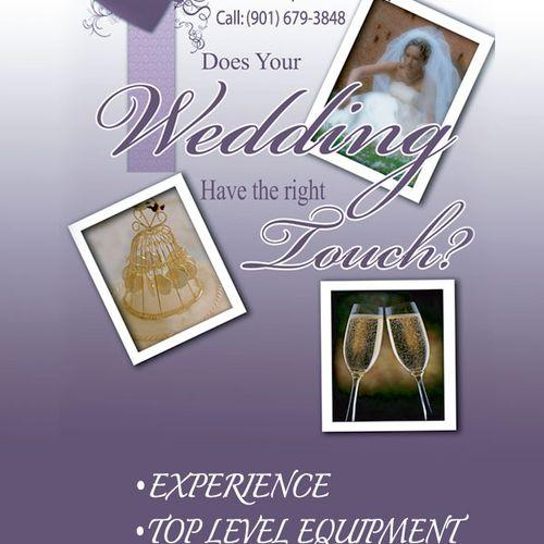We specialize in Weddings