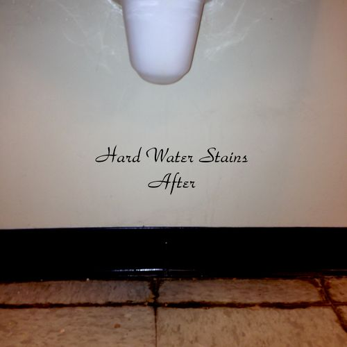 Hard Water Stains After Our Deep Cleaning