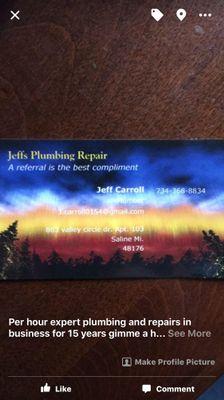 Avatar for Jeffs plumbing repair