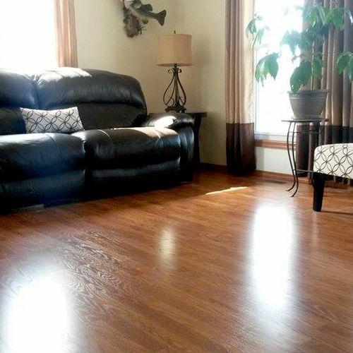 Mandy's living room.