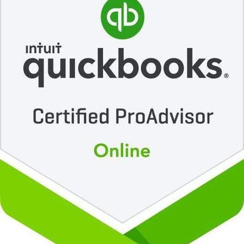 I am certified in QuickBooks Online and a QuickBooks ProAdvisor