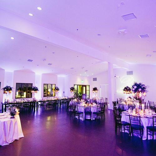 Reception Decor Lit up just beautifully @Serra Plaza #InStyleEventCo