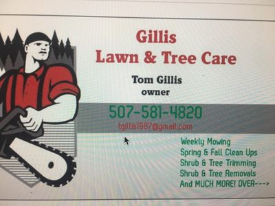 Avatar for Gillis Lawn & Tree Care LLC Northfield, MN Thumbtack