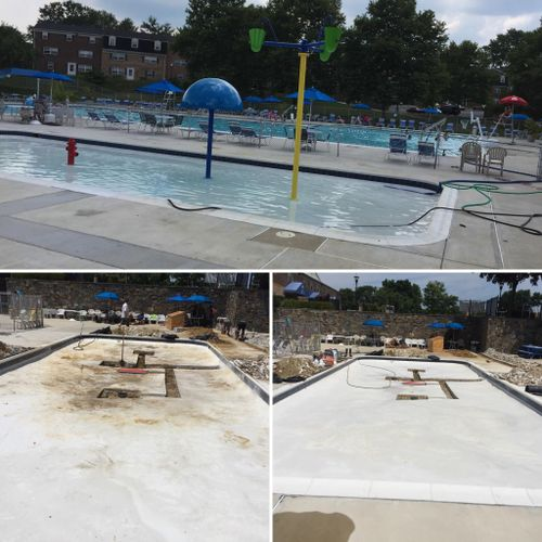 From kiddie pool to 3 water features splash pad in just 10 days