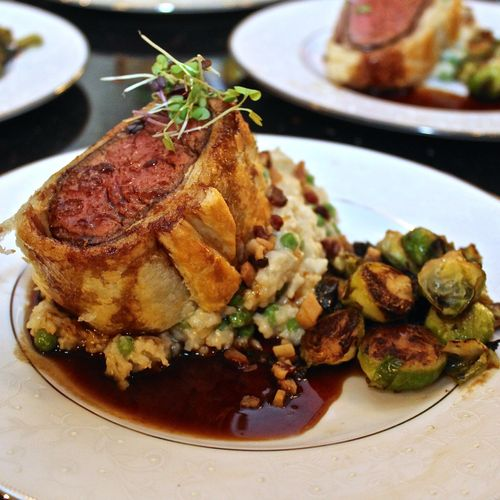 Beef Wellington with 72 Hour Demi Glace