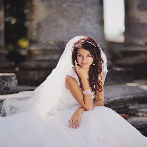 A Bridal portrait setting.