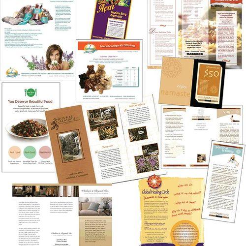 Brochures design samples