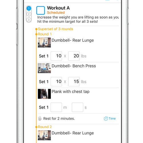 We deliver your fitness plan through our mobile app so you always know what you're doing and can workout confidently