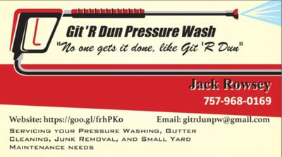 Avatar for Git 'R Dun Pressure Wash