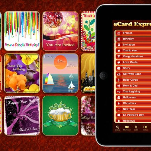 eCard Express HD iPad Application - Available at the App Store and Android Market.