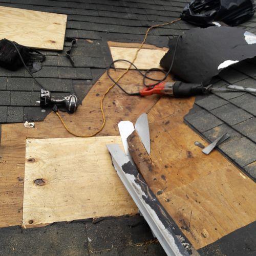 Added new roof sheathing