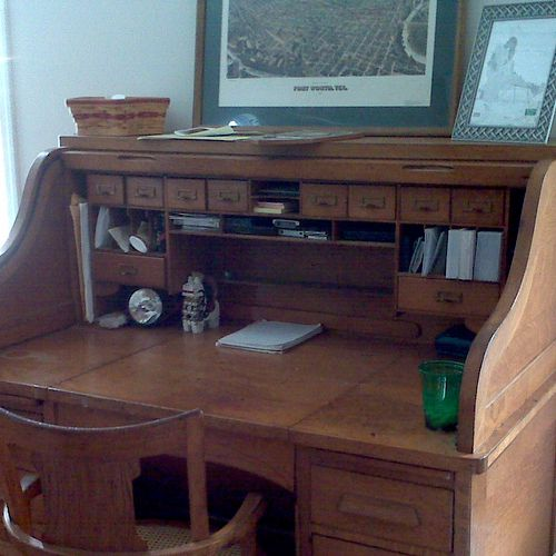 Home Desk - Rolltop - After being organized