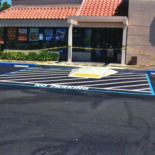 ada compliant ramp for burger king .
