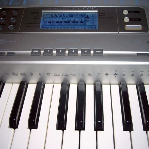 Our electronic piano/keyboard.