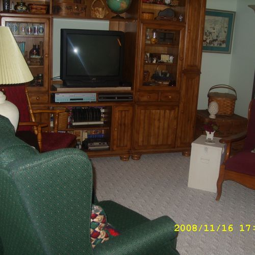 Family Room - organized and decluttered