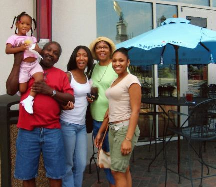 Jordyn and family from Louisiana enjoying their Charlotte Daily Black/African-American Heritage Tour by Queen City Tours and Travel @ queencitytours.com.