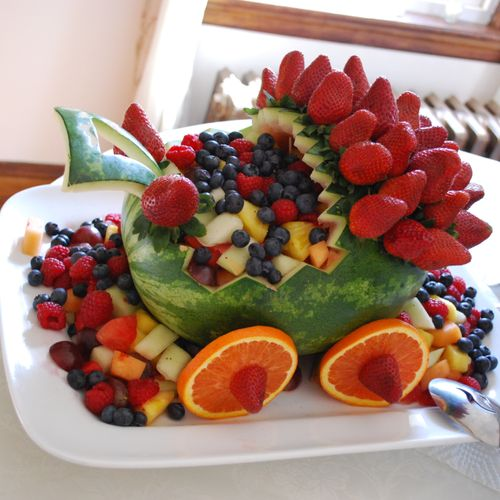 Fruit Salad in a baby carriage