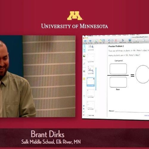 Sample screen shot of video and presentation capture
