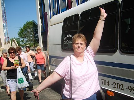 The Bowling Babes enjoying their Charlotte Daily City Tour by Queen City Tours and Travel @ queencitytours.com.