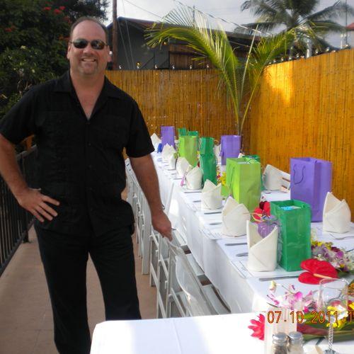 Sam-Event /Banquet Coordinator, Set up for Wedding Party