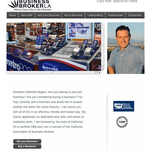 Website built for business broker in LA.