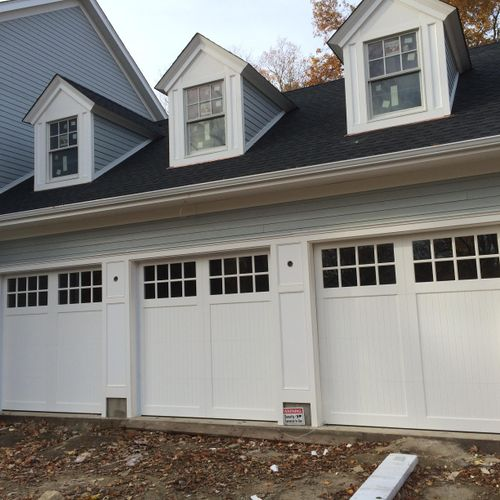 Azek Custom doors with azak frame and backing , Greenwich CT