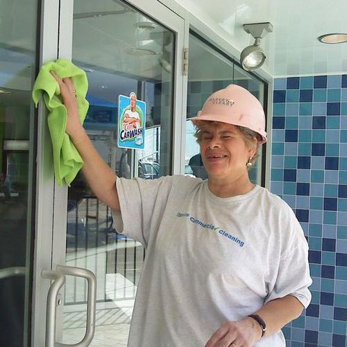 Final Cleaning at Mr. Clean Car Wash in Round Rock.