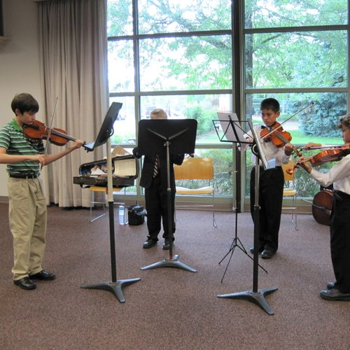 Chamber music at the library.