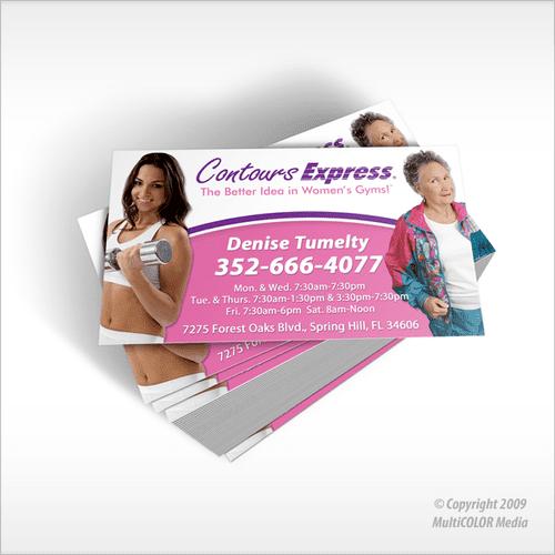 Contours Express Business Card Design - Copyright MultiCOLOR Media