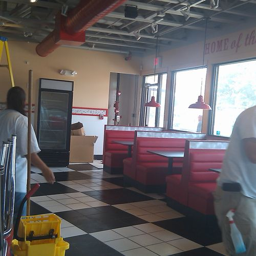 Construction Cleaning at a restaurant.