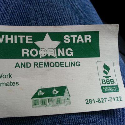 Avatar for White Star Roofing Houston, TX Thumbtack