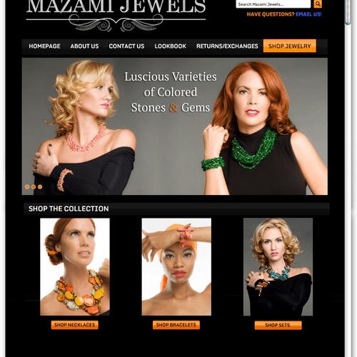 MazamiJewels.com - Custom BigCommerce E-Commerce Web Development Project