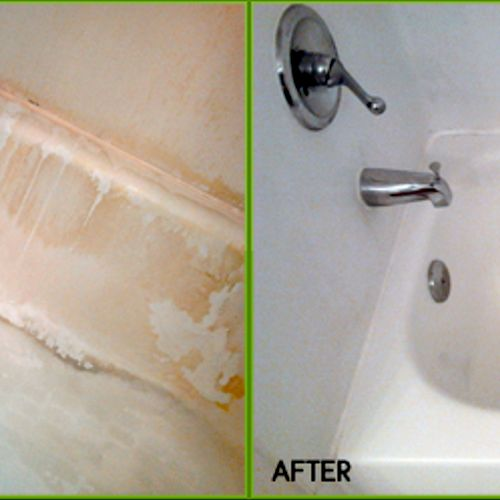Tub before and after