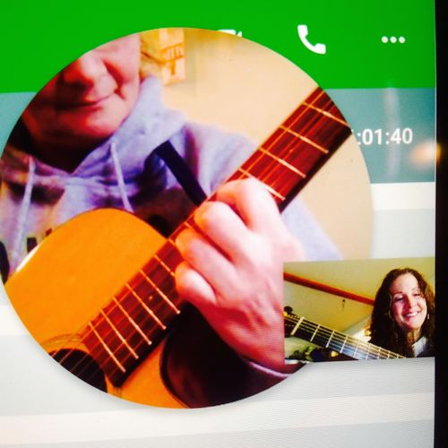 A Google Hangout lesson with my student Rhonda from Canada!