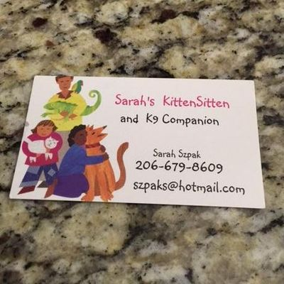Avatar for Sarah's KittenSitten and K9 Companion Kirkland, WA Thumbtack