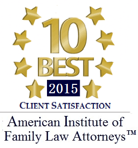 American Institute of Family Law Attorneys 10 Best of 2015 Award